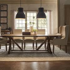 overstock dining room tables signal hills paloma rustic reclaimed wood rectangular trestle farm