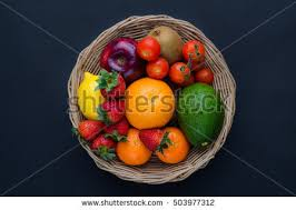 basket of fruit fruit basket stock images royalty free images vectors