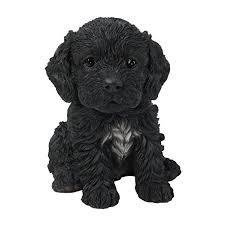 pet pals cockapoo black puppy ornament co uk garden
