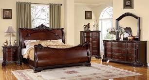 Slay Bedroom Set Bellefonte Baroque Brown Cherry Sleigh Bedroom Set With Intricate