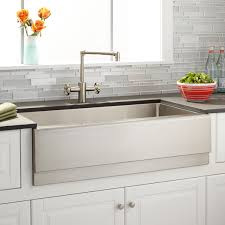 36 stainless steel farmhouse sink 36 piers stainless steel farmhouse sink beveled apron kitchen