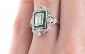 an art deco platinum engagement ring c 1920 madison square
