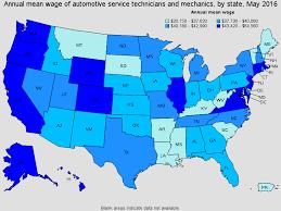 salary for auto service manager automotive service technicians and mechanics