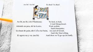 Go To Bed In French Nursery Rhymes In French And English Youtube