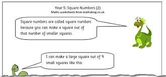 year 5 maths worksheet square numbers 2 maths blog