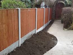 garden posts setting and installing wooden fence posts for garden