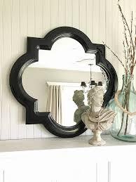 black bathroom mirror scallop framed mirror shabby cottage chic