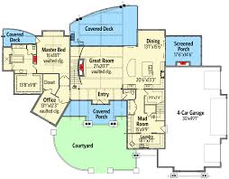 Floor Plans With Courtyards by Mountain Elegance With Arched Entry 95020rw Architectural