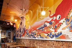 juban carries on the mural of izakaya ten cool hunting juban nyc izakaya ten mural erick hice 1