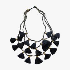 black tassel necklace images Gia black tassel necklace shop bluma project jewelry dear keaton jpg