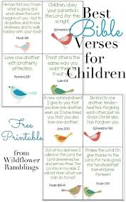 10 best bible verses for children free printable wildflowers