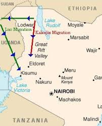 world lake rudolph map early migrations to kenya all things