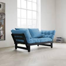 futon canapé canapé futon capitonné convertible structure coloris blanc quito