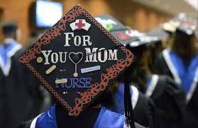 nursing graduation cap ecc grad embraces s ups and downs