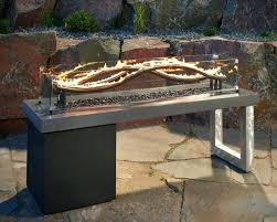 outdoor patio set with propane fire pit build outdoor fire pit