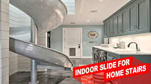 amazing indoor slide for home stairs youtube