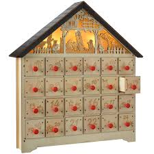 nativity advent calendar the seasonal aisle 36cm pre lit christmas wooden nativity