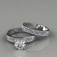 bridal sets rings cut engagement ring and wedding band set puregemsjewels
