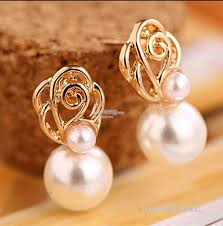 korean earings korean white pearl gold toned ear st end 5 19 2018 4 15 pm