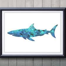 society6 great white shark ii wall from shop society6 banquet