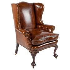 Antique Queen Anne Wing Back Chairs Furniture Nice Leather Wingback Chair For Modern Family Room