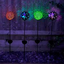 Large Solar Light by Solar Powered Large Bronze Effect Butterfly Globe Stake Light