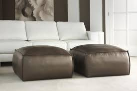 Leather Ottomans Collins Leather Ottoman An Ottoman With Attitude