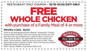 27 boston market coupons promo codes dec 2017