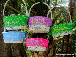 personalized easter basket liners easter baskets and free grass design janice ferguson sews