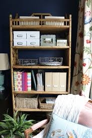 Rattan Bookcase Flea Market Find Rattan Shelving The Inspired Room