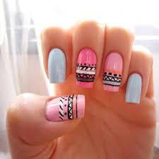 figuras geometricas uñas uñas rosas tribiales nails pinterest rosas tribales y cabello