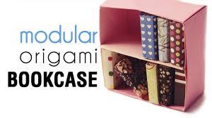 origami bookcase tutorial modular diy youtube