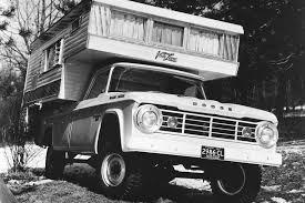Vintage Ford Truck Camper - pickup offroad 4x4 custom truck camper camping motorhome wallpaper