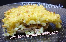 cuisiner des restes gratin de pâtes aux restes de rouelle de porc auxdelicesdemanue