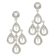 and pearl chandelier earrings bridal earrings fancy imitation pearl chandelier earrings