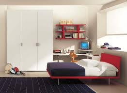 furniture corner white wooden small desk with chrome base added corner white wooden small desk with chrome base added by brown wooden chair and white wardrobe also red bed on ceramics flooring
