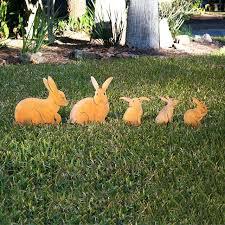 rabbit decor items bunny family garden sculptures set of 5 ideas