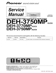 pioneer deh 3770mp service manual