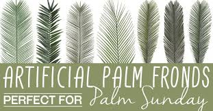palm for palm sunday 9 artificial palm fronds to decorate with on palm sunday