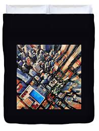 New York City Duvet Cover New York City Sky View Duvet Cover For Sale By Mona Edulesco