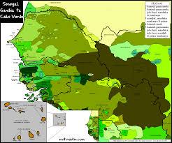 Dakar Senegal Map Senegal Gambie U0026 Cap Vert Carte Linguistique