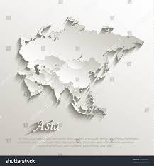 Asia Political Map Asia Political Map Card Paper 3d Stock Vector 204660031 Shutterstock