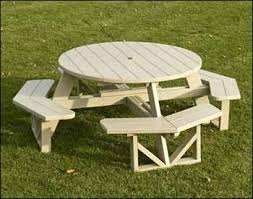 Red Cedar Octagon Walk In Picnic Table by 30 Best Picnic Benches Round Images On Pinterest Ideas Diy And