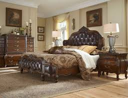 enticing decoration of traditional bedroom with dark brown wooden