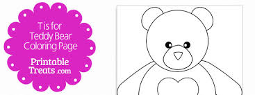 t is for teddy bear coloring page u2014 printable treats com