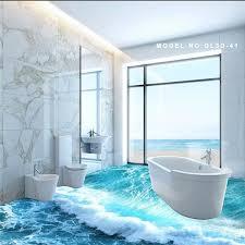 3d bathroom flooring bathroom interior ocean waves d bathroom toilet tile floor tiles