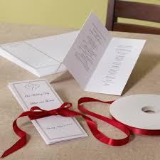 diy wedding programs kits platinum hearts wedding program paper do it yourself wedding