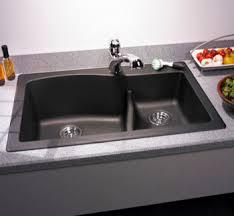 Swanstone QZLS Granite LargeSmall Double Bowl DropIn - Drop in kitchen sinks