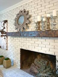 painting gray painted brick fireplace brick fireplace black