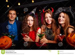 martini halloween halloween party at bar stock photo image of young people 58418278